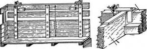 Рис. 10. Устройство дополнительной обрешётки бортов. Рис. 11. крепление продольных и поперечных досок.